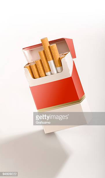 cigarette pack on white - cigarette packet stock pictures, royalty-free photos & images