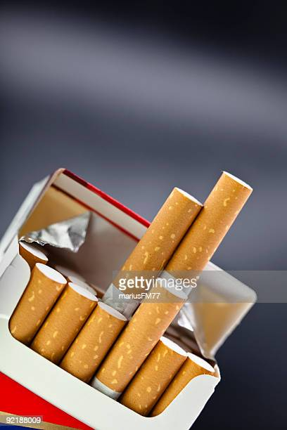 cigarette packet - cigarette pack stock pictures, royalty-free photos & images