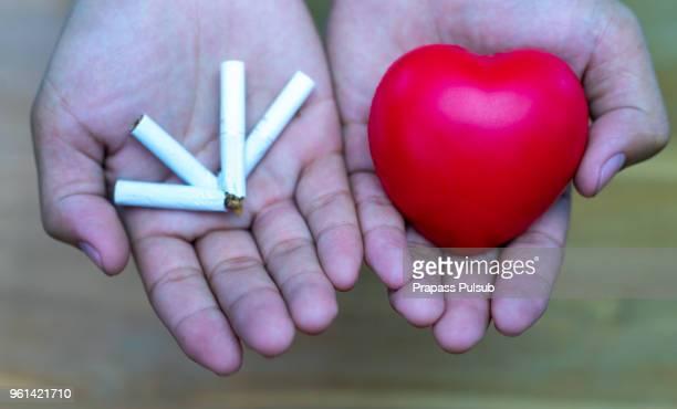 Cigarette smoking causes heart disease.