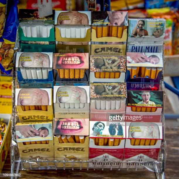 cigarette warnings mexico city - gum disease stock photos and pictures