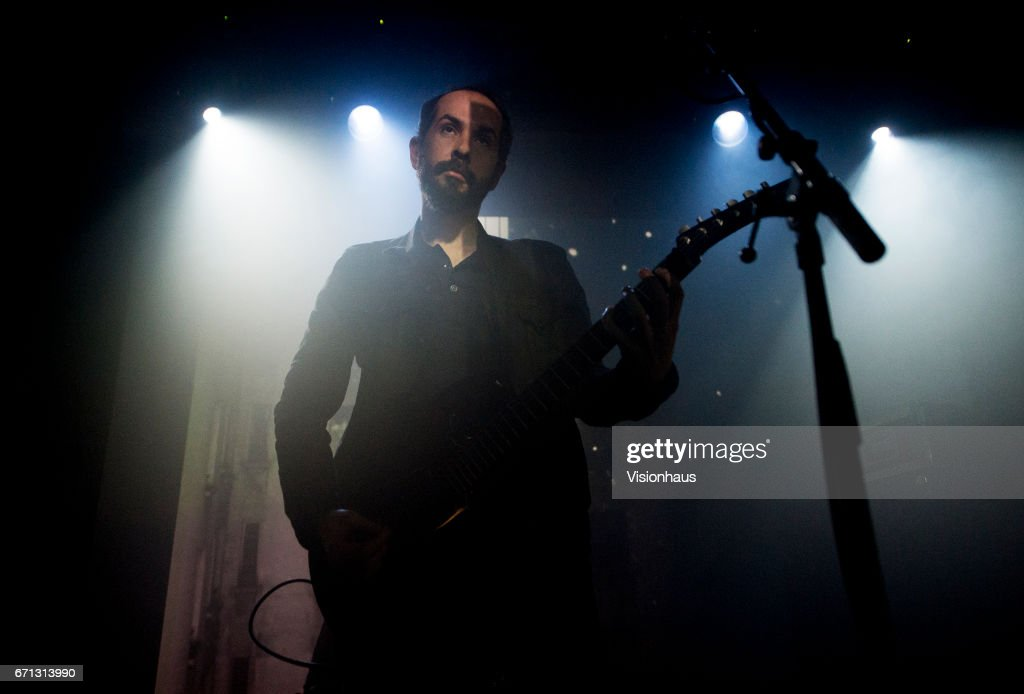 Cigarettes After Sex lead singer, Greg Gonzalez performs with the band at Gorilla on April 18, 2017 in Manchester, England.