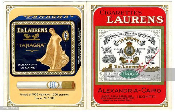 Cigarettes Laurens Manufacture de Cigarettes Egyptiennes AlexandriaCairo Faber Coe Gregg New York 1900