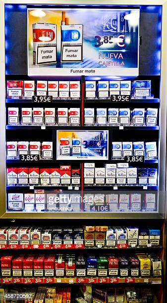 cigarettes vending machine, barcelona, spain - cigarette pack stock pictures, royalty-free photos & images