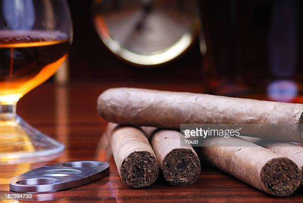 Cigars Cutter and Brandy
