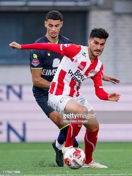Cihat Celik of TOP Oss during the Dutch Keuken Kampioen Divisie match between TOP Oss v Telstar at the Frans Heesen Stadium on October 12, 2019 in...