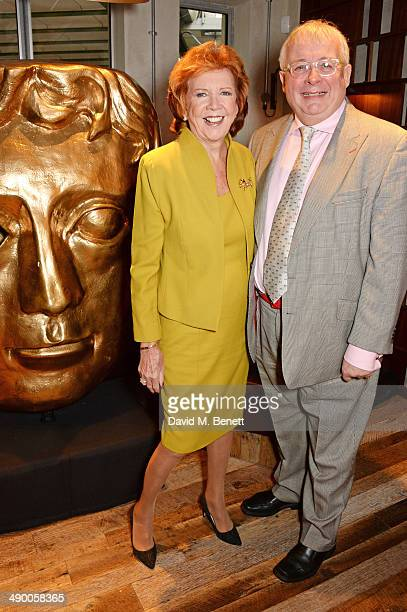 Cilla Black and Christopher Biggins attend a private lunch to celebrate Cilla Black's upcoming BAFTA Special Award hosted by Villa Maria Wines at...