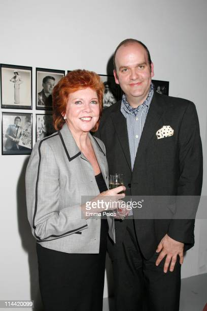 Cilla Black and Dennis Northdruft attend the Private View for the Tommy Nutter 'Rebel On The Row' exhibition displaying the work of British tailor...