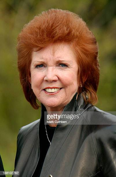 Cilla Black Attends The Funeral Of Caron Keating At Herver Castle In Kent
