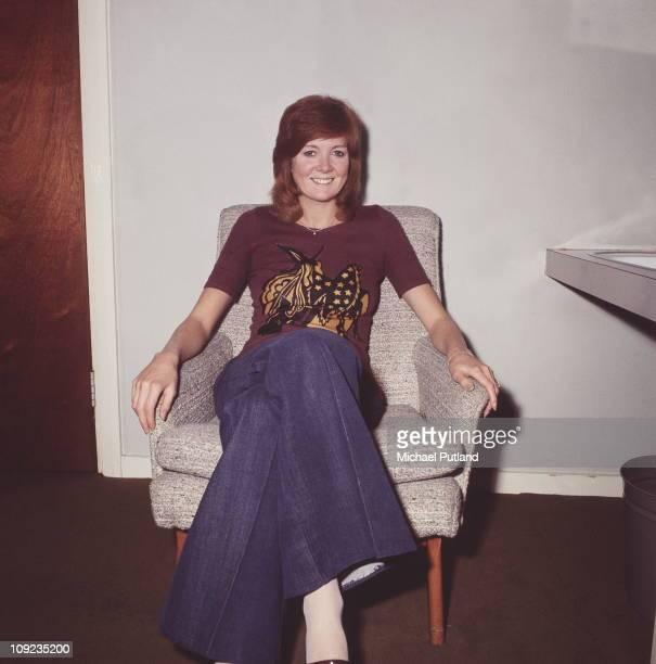 Cilla Black in dressing room London 9th October 1970