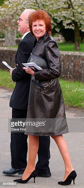 Cilla Black leaves the Funeral of Caron Keating following her death from breast cancer last week at Hever Church in Edenbridge on April 20 2004 in...