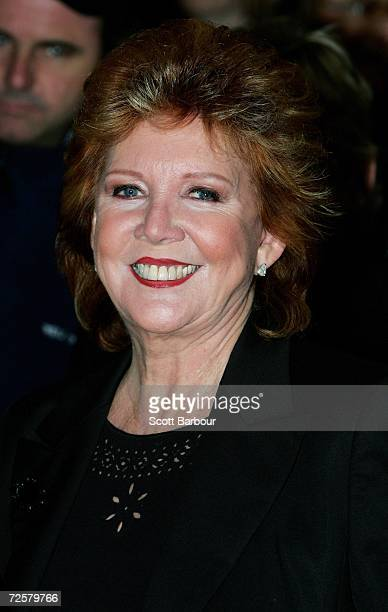 Cilla Black poses for photographers as she arrives at 'The Sound Of Music' at the London Palladium on November 15 2006 in London England Both EVITA...