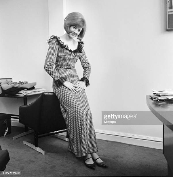 Cilla Black, singer and television personality pictured in this posed feature for The Daily Mirror. At the time of this picture, Cilla Black had...