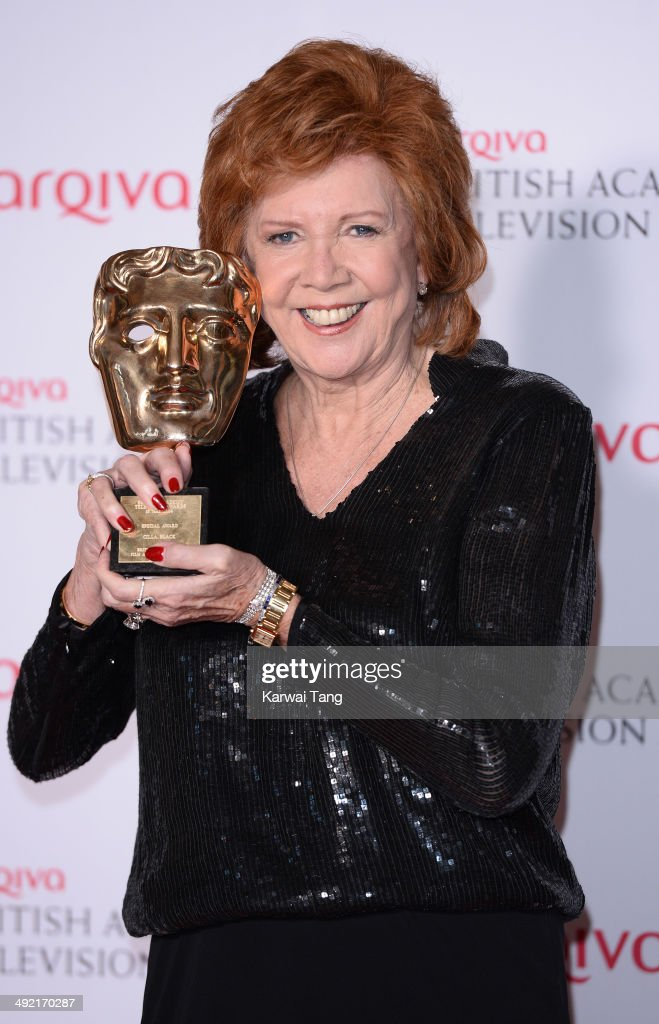Cilla Black with the Special Award, at the Arqiva British Academy Television Awards held at the Theatre Royal on May 18, 2014 in London, England.