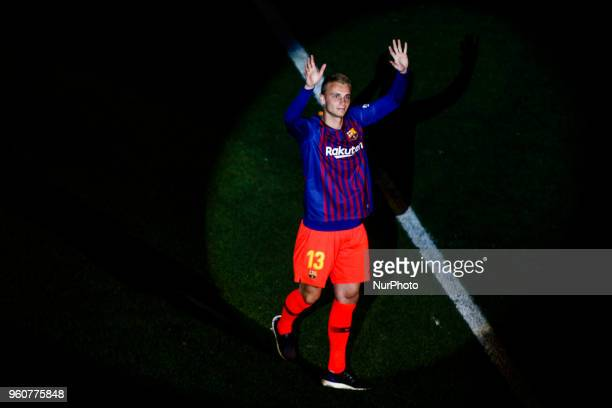 13 Cillessen from Holland of FC Barcelona during the Andres Iniesta farewell at the end of the La Liga football match between FC Barcelona v Real...