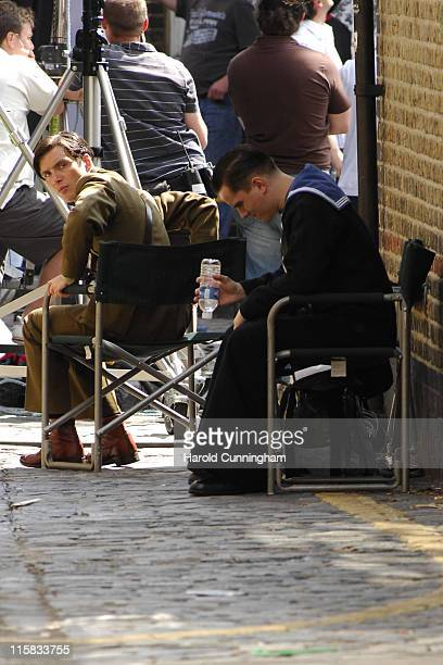 Cillian Murphy and guest during Cillian Murphy on Location for 'The Edge of Love' June 5 2007 at London in London Great Britain