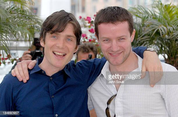 """Cillian Murphy and Padraic Murphy during 2006 Cannes Film Festival - """"The Wind That Shakes The Barley"""" - Photocall at Palais Du Festival in Cannes,..."""