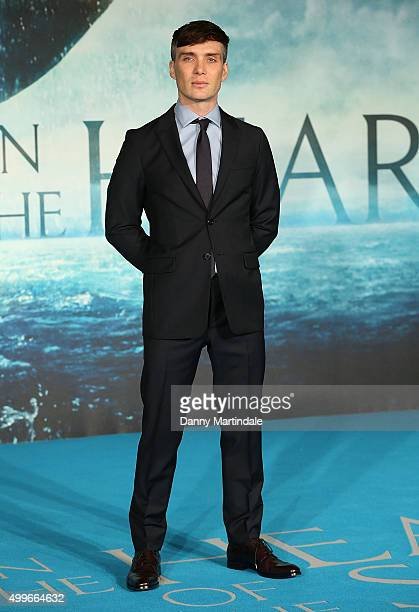 Cillian Murphy attends the UK Film Premiere of 'In the Heart of the Sea' at Empire Leicester Square on December 2 2015 in London England