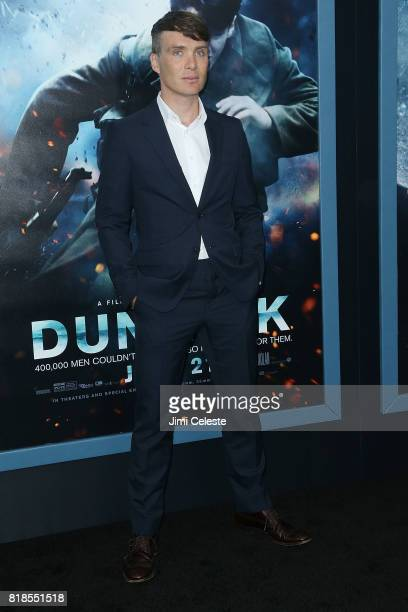 "Cillian Murphy attends the US premiere of ""Dunkirk"" at AMC Loews Lincoln Square IMAX on July 18, 2017 in New York City."