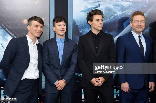 Cillian Murphy Barry Keoghan Harry Styles and Kenneth Branagh attend the 'DUNKIRK' New York Premiere on July 18 2017 in New York City