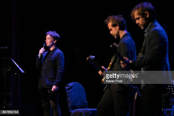 Cillian Murphy Bryce Dessner and Aaron Dessner performs at The Everyman as part of Sounds From A Safe Harbour Festival on September 15 2017 in Cork...