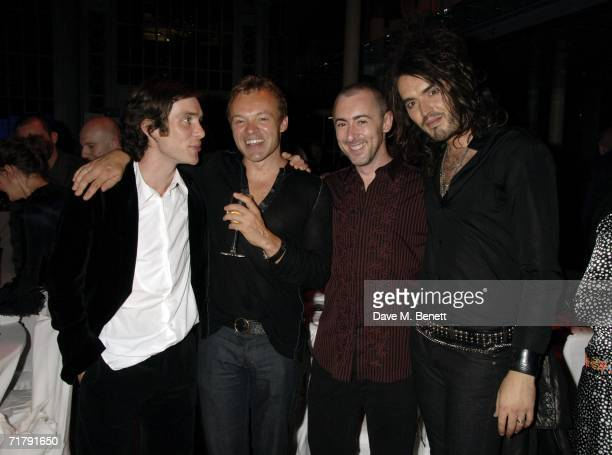Cillian Murphy Graham Norton Alan Cumming and Russell Brand attend the GQ Men Of The Year Awards at the Royal Opera House on September 5 2006 in...