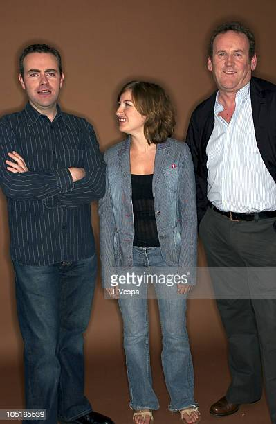 Cillian Murphy Kelly MacDonald and Colm Meaney during 2003 Toronto International Film Festival Intermission Portraits at Intercontinenal Hotel in...