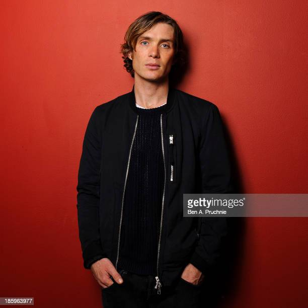 Cillian Murphy poses for photographs before introducing his BFI Screen Epiphany 'Scarecrow' at BFI Southbank on October 26 2013 in London England