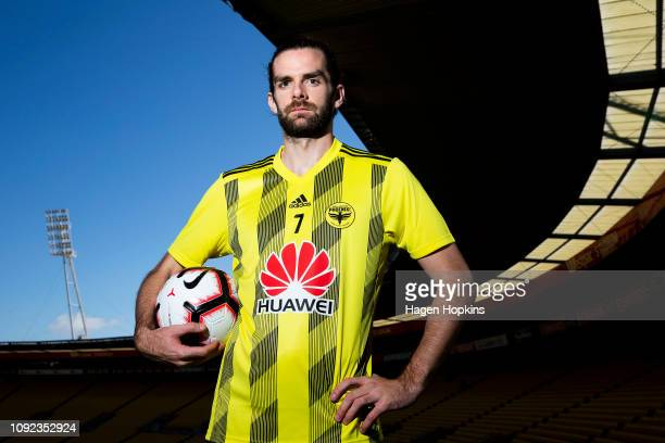 Cillian Sheridan poses during a Wellington Phoenix training session at Westpac Stadium on January 11 2019 in Wellington New Zealand