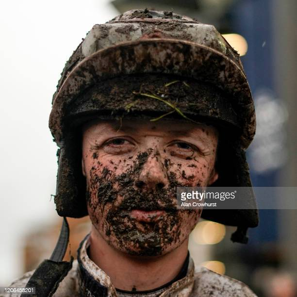 Cillin Leonard after riding in The Ascot Local Sports Social Clubs Handicap Hurdle at Ascot Racecourse on February 15 2020 in Ascot England