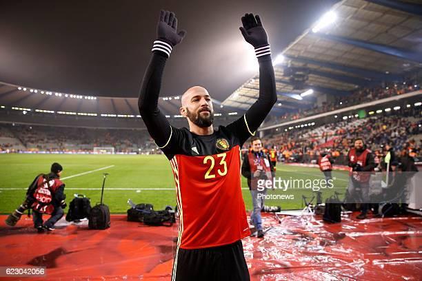 Ciman Laurent defender of Belgium - team of Belgium celebrates during the World Cup Qualifier Group H match between Belgium and Estonia at the King...