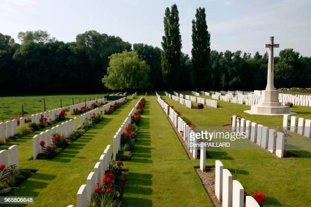 Cimetière de la première guerre mondiale autour du Mont Kemmel dans les Flandres Belges Belgique