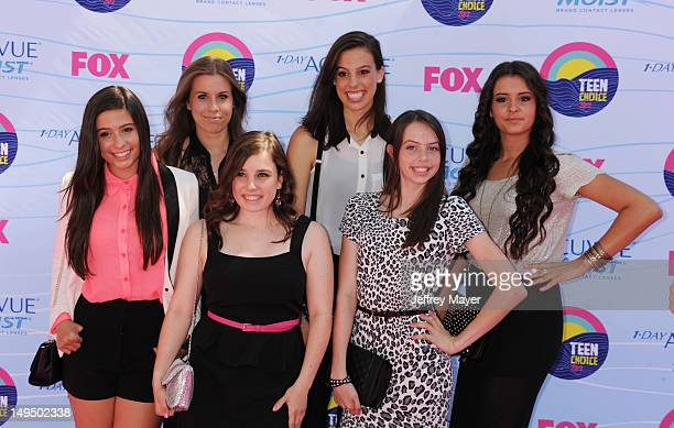Cimorelli arrives at the 2012 Teen Choice Awards at Gibson Amphitheatre on July 22 2012 in Universal City California