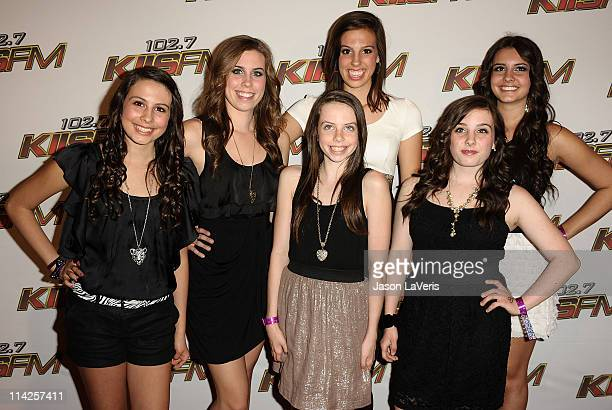Cimorelli attends 1027 KIIS FM's Wango Tango concert at Staples Center on May 14 2011 in Los Angeles California
