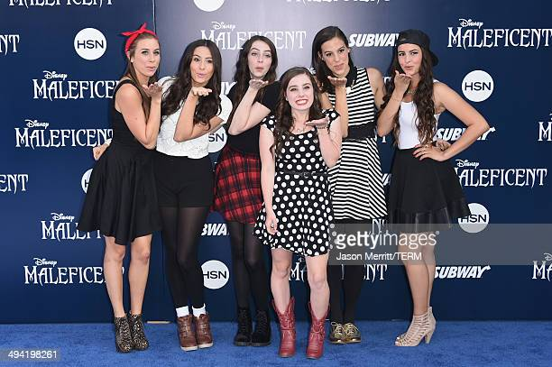 Cimorelli attends the World Premiere of Disney's 'Maleficent' at the El Capitan Theatre on May 28 2014 in Hollywood California