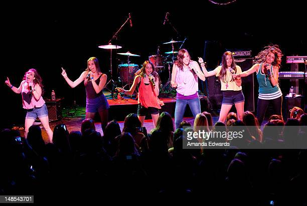 Cimorelli open for Ryan Beatty at The Roxy Theatre on July 17 2012 in West Hollywood California