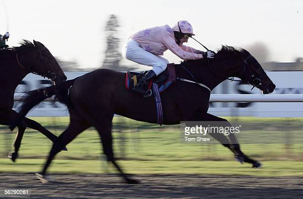 Cimyla ridden by George Baker on his way to winning the Text 'Betdirest' To 88600 Handicap Stakes during the meeting at Lingfield Park Racecourse on...