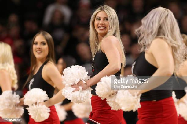 Cincinnati Bearcats cheerleaders perform during the game against the UCF Knights and the Cincinnati Bearcats on February 19th 2020 at Fifth Third...