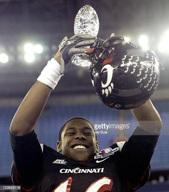 Cincinnati Bearcats Dominick Goodman was named the International Bowl Game MVP for his performance versus the Western Michigan Broncos at Rogers...