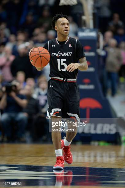 Cincinnati Bearcats guard Cane Broome during the game as the Cincinnati Bearcats take on the UConn Huskies on February 24 2019 at the XL Center in...
