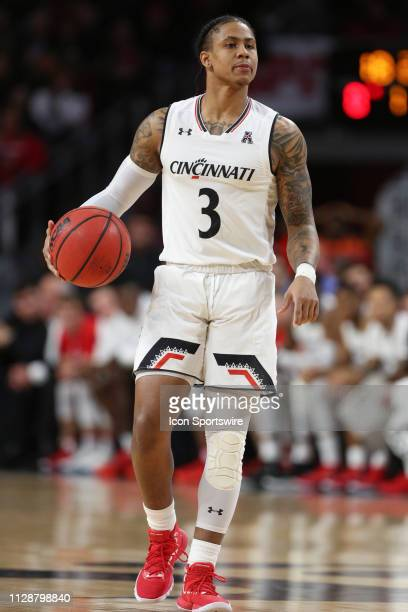 Cincinnati Bearcats guard Justin Jenifer controls the ball during the game against the Memphis Tigers and the Cincinnati Bearcats on March 2nd 2019...