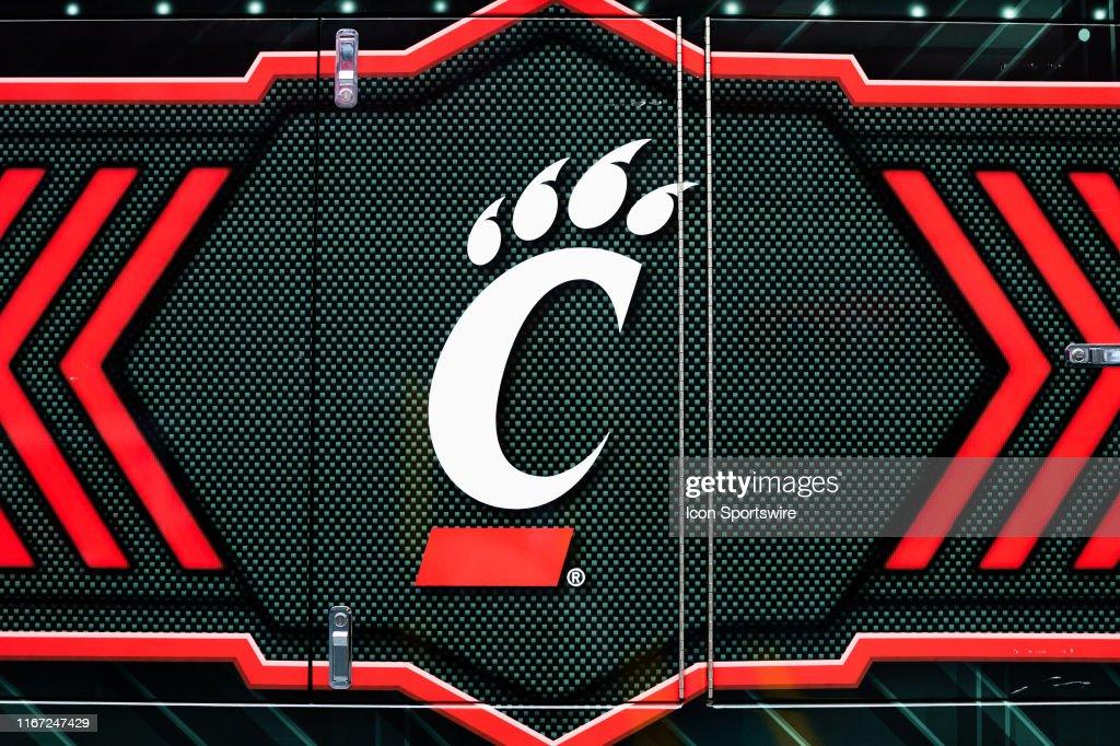A Cincinnati Bearcats Logo Is Seen On A Cart Before A Game Between News Photo Getty Images