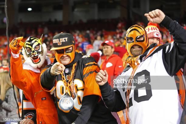 Cincinnati Bengals fans get crazy before a week 7 NFL game between the Cincinnati Bengals and Kansas City Chiefs on October 21 2018 at Arrowhead...