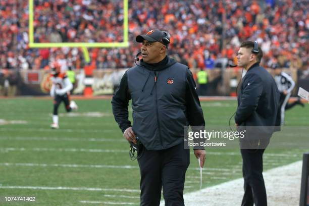 Cincinnati Bengals head coach Marvin Lewis on the sideline during the fourth quarter of the National Football League game between the Cincinnati...