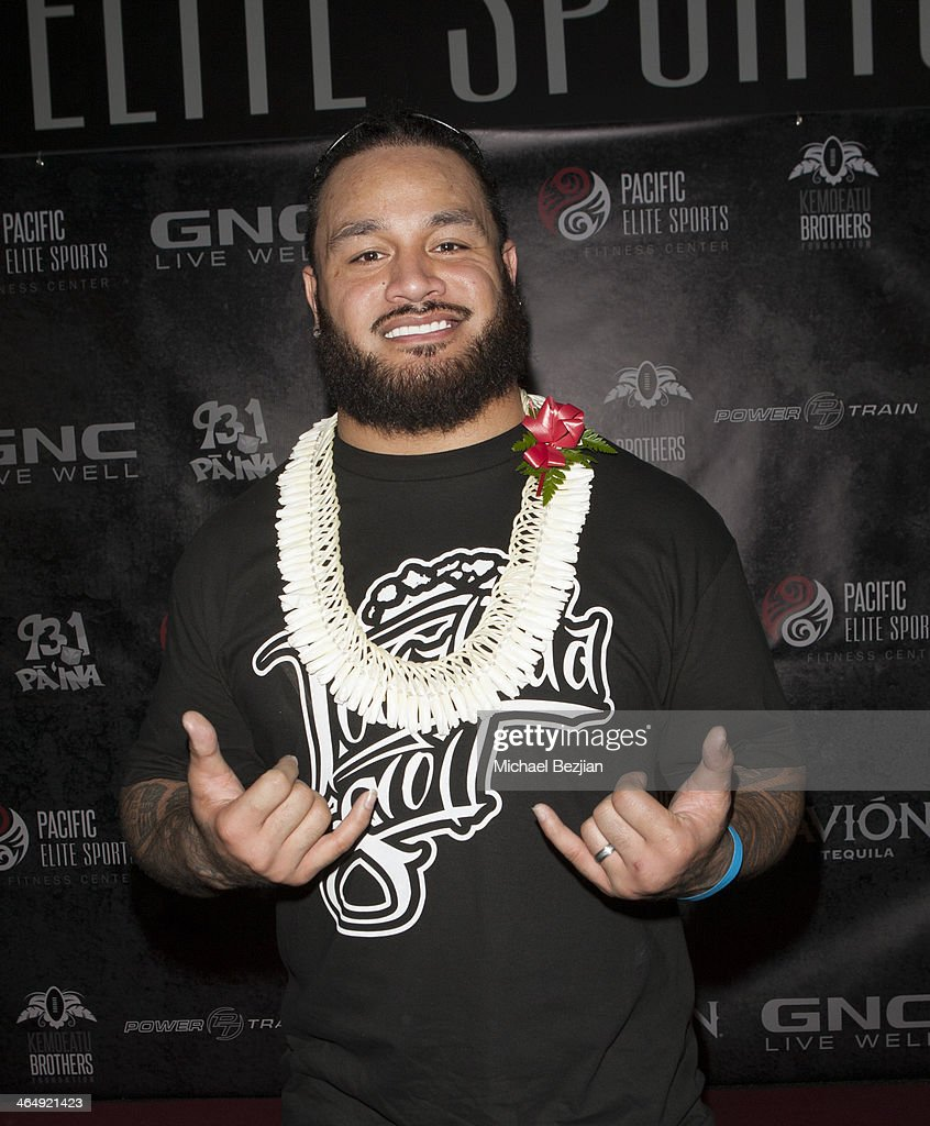 Cincinnati Bengals player Ray Maualuga attends the Pacific Elite Sports Fitness Center Grand Opening on January 24, 2014 in Kaneohe, Hawaii.