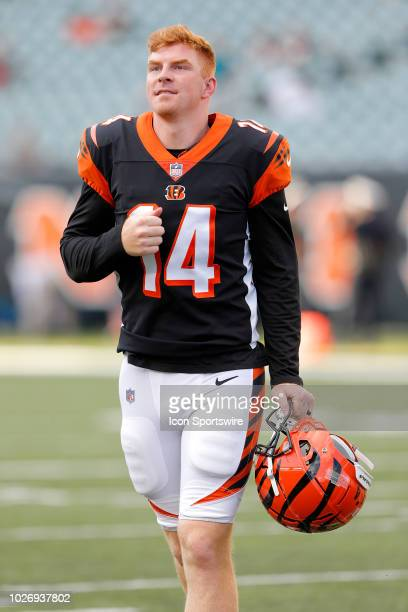 Cincinnati Bengals quarterback Andy Dalton during the NFL preseason game between the Indianapolis Colts and the Cincinnati Bengals on August 30 at...