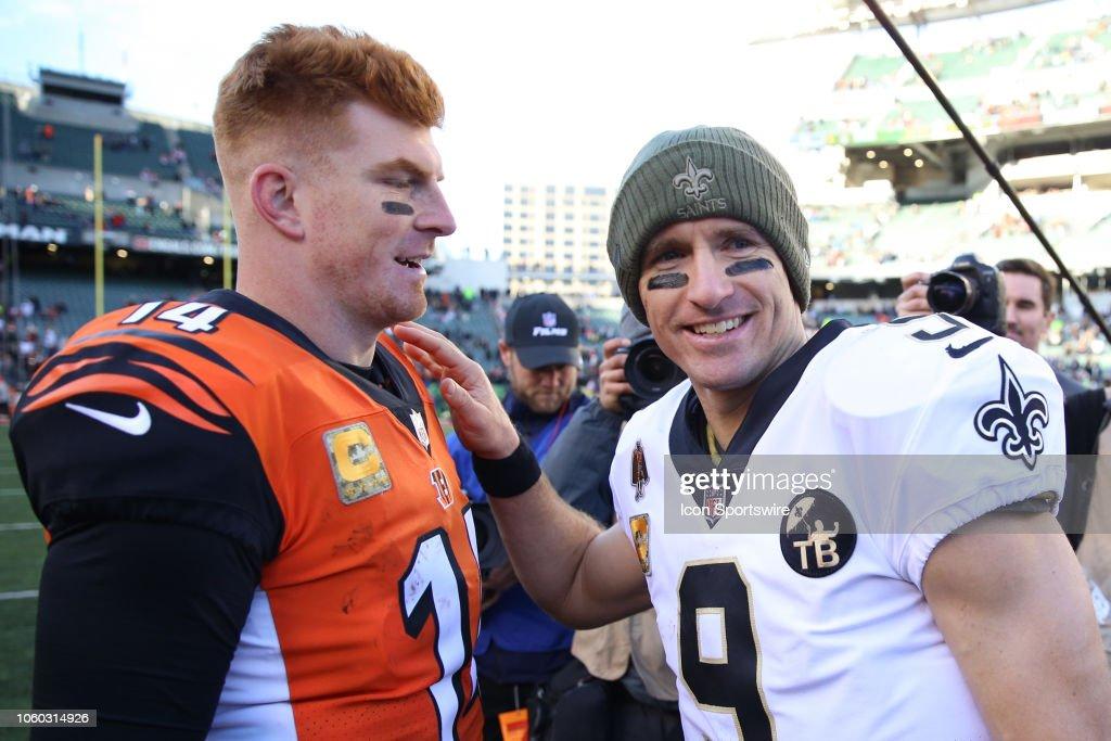 NFL: NOV 11 Saints at Bengals : Foto jornalística