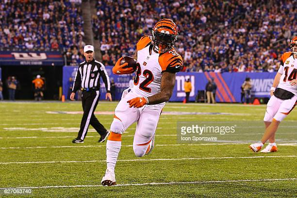 Cincinnati Bengals running back Jeremy Hill during the first half of the National Football League game between the New York Giants and Cincinnati...