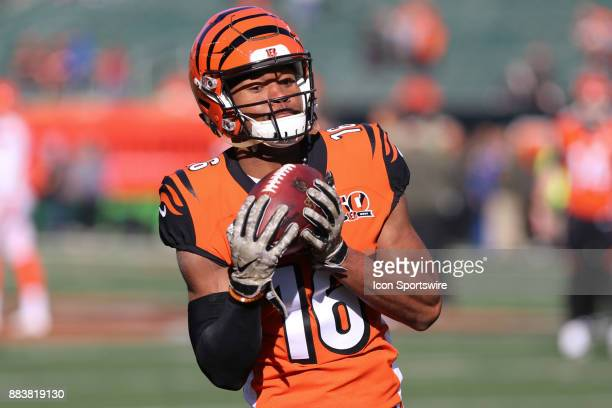 Cincinnati Bengals wide receiver Cody Core warms up before the game against the Cleveland Browns and the Cincinnati Bengals on November 26th 2017 at...
