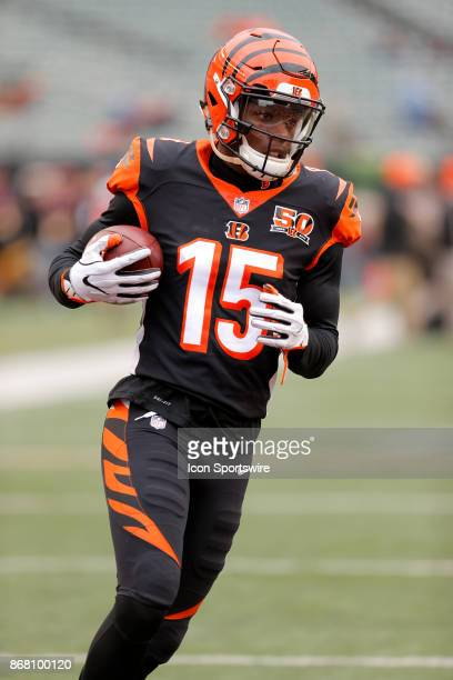 Cincinnati Bengals wide receiver John Ross during an NFL football game between the Indianapolis Colts and the Cincinnati Bengals on October 29 at...