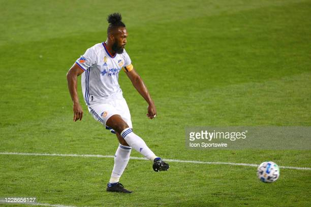 Cincinnati defender Kendall Waston during the Major League Soccer game between the New York Red Bulls and FC Cincinnati on September 19 2020 at Red...